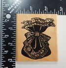 Posh Impressions Posh Presents Bag Sack Lace Bow Rubber Stamp