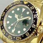 UNWORN ROLEX GMT MASTER ll 116718 18K YELLOW GOLD GREEN ANNIVERSARY CERAMIC