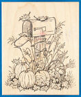 Fall Harvest Mail Box Rubber Stamp by Northwoods Pumpkins Autumn Thanksgiving