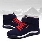 Men Winter Snow Boots Suede Ankle Sneakers Fur Lined Warm High Top Leather Shoes