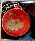 FIESTA Ware Scarlet Red 2005 Ornament  HOMER LAUGHLIN china co. NEW in BOX