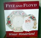 Fitz and Floyd Winter Wonderland Plate And Server Set New in Box Retired 2007