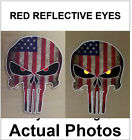 USA Punisher Skull Decal Reflective Eyes Flag Sticker Car Army Sniper Military