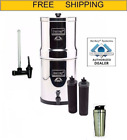 Imperial Berkey Water Filter w 2 Black Filters,  Water View Spigot and SS Shaker