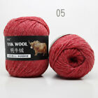 Skeins 100g Yak Wool Velour Yarn Hand Knitting Crochet 3ply Chunky Yarn Lot Of