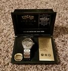 Super Rare Vulcain men's watch with date and time.
