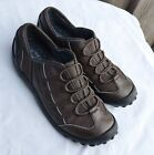 Bronze brown leather Clarks Privo walking comfort flats loafers size 75 M
