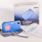 Sanyo VPC TP1000 10.0 MP 6x Zoom Touch Screen Digital Camera Blue