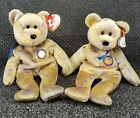 PAIR OF Ty Beanie Babies 2000 Clubby III 3 Bear Tag Excellent Shape