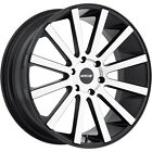 18x8 Machined Black MKW M118 Wheels 5x110 +40 Fits Saturn Astra L300 Aura