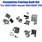 Fairing Bolt Kit Body Bolts Washers Stainless For Suzuki GSX-R 600 750 2002-2003