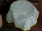 ANOTHER BRAND NEW HAND CROCHET BABY BLANKET AFGHAN PASTEL COLORSBOYS OR GIRLS