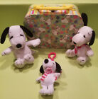 TY WINTER SNOOPY the KEY CLIP BEANIE BABY Snoopy Met Life, Lunchbox, Vintage LOT