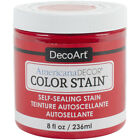 Americana Decor Color Stains 8oz-Real Red, Deco Art,Part ADCS-05