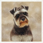 Dog Schnauzer Portrait Fabric Craft Panels in 100 Cotton or Polyester