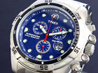 Timex Men's T49799 Expedition Diver Chronograph Stainless Steel Blue Dial Watch