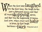 BABY TINKERBELL QUOTE Wood Mounted Rubber Stamp IMPRESSION OBSESSION E3890 New