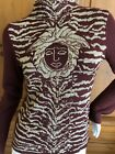 Versace Jeans Couture Vintage Gold and Brown Medusa Inartsia Sweater