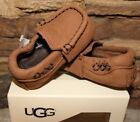NIB UGG Infant SIVIA Leather Booties Shoes 0 1 2 3 4 5 CHESTNUT