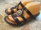 NAOT Footwear Slide Sandals Black Leather Strappy Silver Concho Womens Size 37