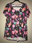 NWT LulaRoe Classic T XL Floral Purple Pink Roses Flowers