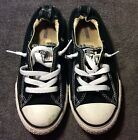 CONVERSE All Star Shoes BLACK Kids Girls Size 2