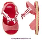 Gymboree NWT Red Chambray Stripe VENICE SWEETIE SANDALS DRESS CRIB SHOES US 1