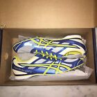 Asics Hyper Rocket Girl 6 Size 10 Track Shoes Cleats Malibu Blue White Lemon NIB