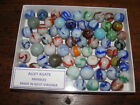 Vintage Alley  Agate Marbles in a boxed set  Over 70 most nearmint MULTI-COLORS