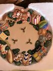 Omnibus By Fitz And Floyd Toyland  Christmas Canape Plate never used in box