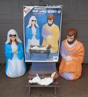 VINTAGE EMPIRE NATIVITY 4 PIECE BLOWMOLDS BLOW MOLDS LIGHTED 40 LIFE SIZE