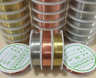 1 Roll Brass Silver Gold Soft Copper Wire line for DIY Jewelry Making 02 1mm