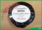 30332 4XL DYMO® Compatible 15 Rolls of Small 750 Labels for LabelWriter® Postage