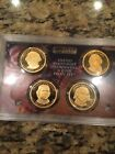 5 2010 US Mint Presidential Dollars 4 Coin Proof Set No Box United States 1