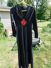 Vintage Mod Space dress in Black and RED Groovy and Hot David Bowie look