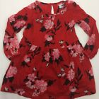 Old Navy Dress Girls Red Pink Floral Attached Cami A2308 Size 4T