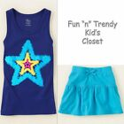 NWT The Childrens Place TCP Girls Size 4 XS TCP Skirt Skort  Tank Top 2 PC SET