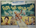 Original Vintage Ride the Wild Surf Movie Poster 1/2 half sheet 1964 Excellent