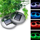 LED Light Cover Trim Atmosphere Lamp Auto Car Solar Cup Holder Bottom Pad Mat