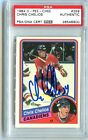 MONTREAL CANADIENS CHRIS CHELIOS signed 1984-85 OPC ROOKIE CARD PSA DNA SLABBED