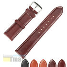 18mm Genuine Leather Men's Watch Strap Band Twister Stainless Steel Buckle