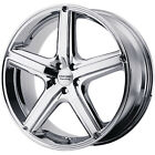 16x7 Chrome American Racing Maverick Wheels 5x115 +40 PONTIAC PRESTIGE GRAND AM