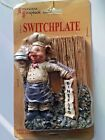 Americana Scrapbook Pig Chef Light Switch Plate cover handmade hand painted new