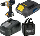GMC Cordless 18V Drill Driver Power Tool Charger & 1.5Ah Li-ion Battery With Bag
