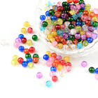 400pcs Mixed Color Crackle Glass Beads Round Loose Beads Beading Craft Tiny 4mm