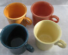 4 FIESTA RING HANDLED TOM & JERRY COFFEE MUGS YELLOW JUNIPER PERSIMMON TANGERINE