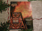 FIRE PINBALL folded damaged    WILLIAMS  ARCADE GAME  FLYER    CFD