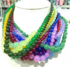Wholesale 6 14mm Multi color Gemstone Round Beads Jewelry Necklaces 18 AAA