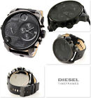 DIESEL DZ7193 Blackout Oversized Black Leather Stainless Steel Men's Watch