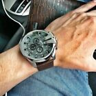 DIESEL Mega Chief DZ4290 Gray Dial Brown Leather Wrist Watch for Men